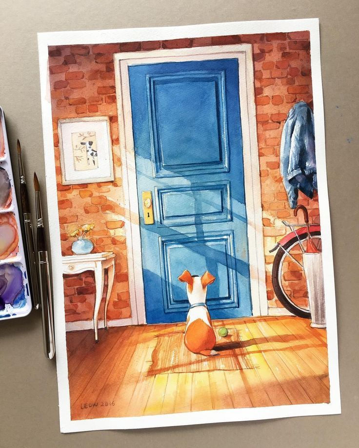 The Secret Life Of Pets Gabriela Figueroa watercolor on