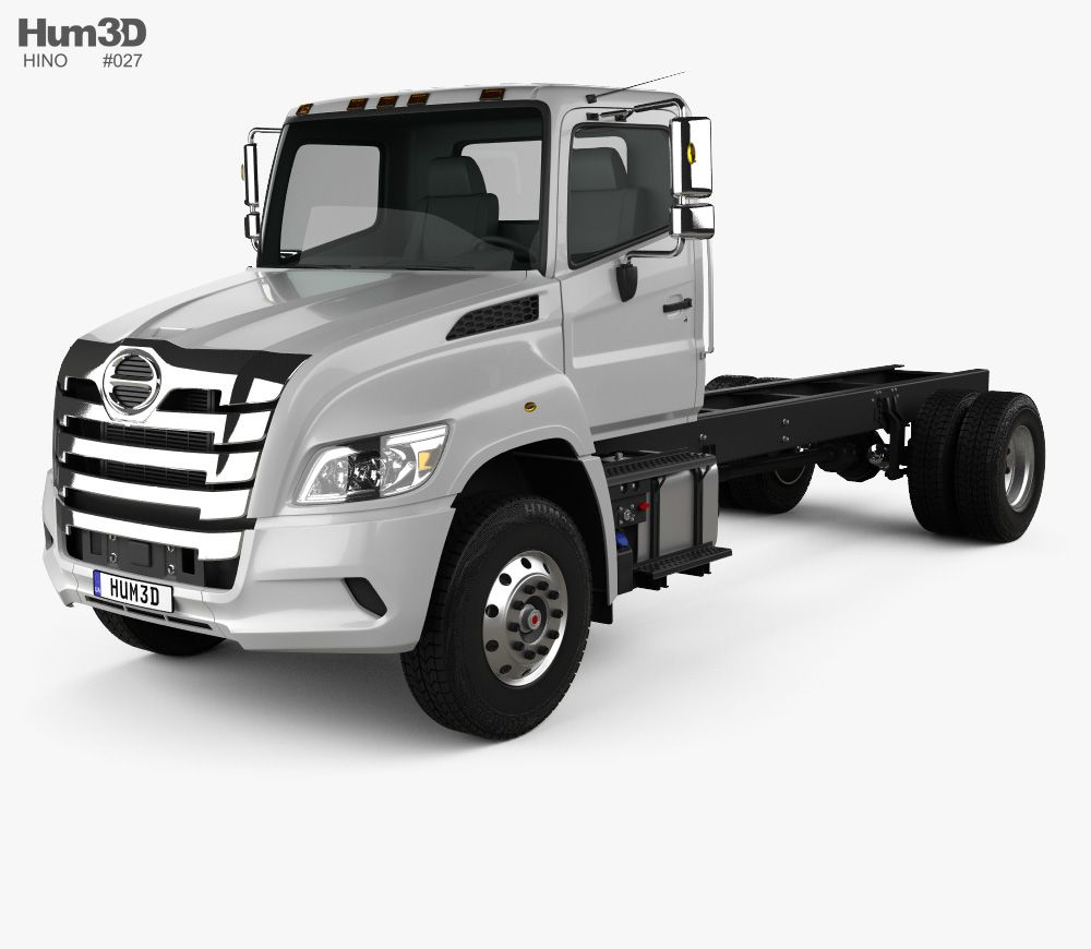 3d Model Of Hino Xl Chassis Truck 2019 With Images Hino