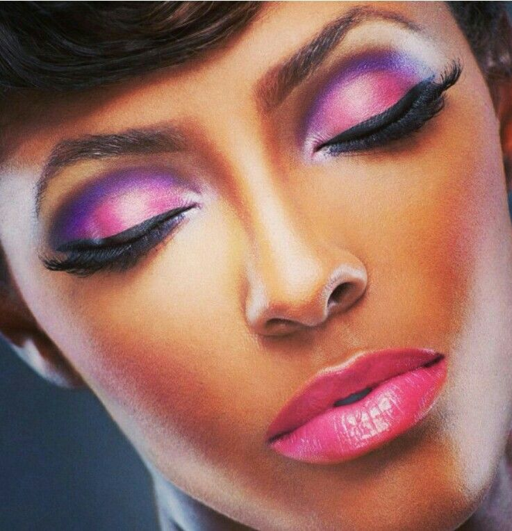 Makeup for brown skin - Pretty in Pink | Brown skin makeup ...
