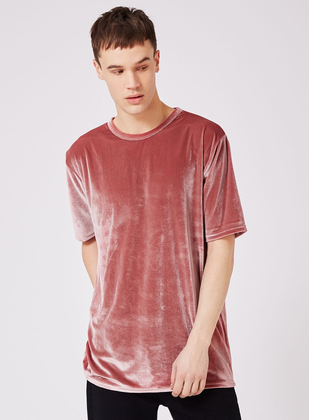 Pink Velour Oversized T-Shirt | inspirations | Pinterest | Men wear
