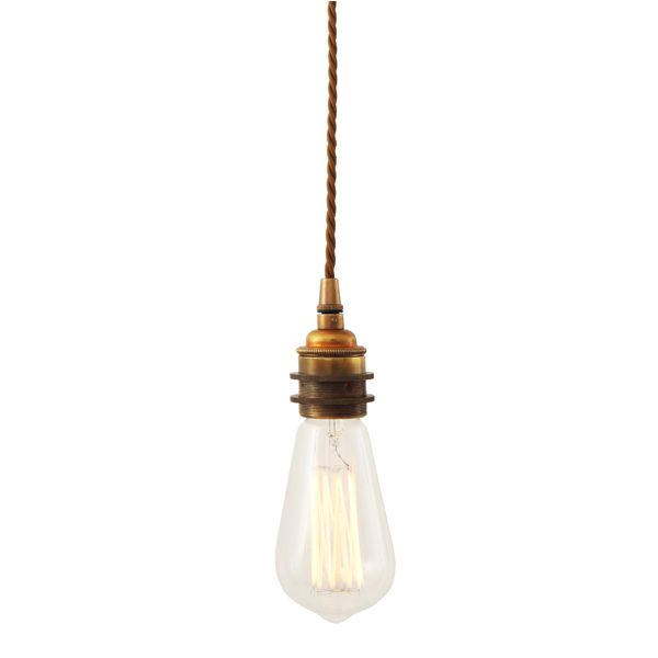 Buy Online Lome Vintage Braided Suspension Pendant By Mullan Lighting Handmade Brass Lamp Design Mike Treanor Collection