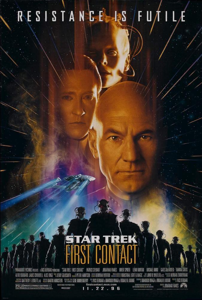 STAR TREK FIRST CONTACT, Alice Krige, Brent Spiner, Patrick Stewart, 1996 | Essential Film Stars, Patrick Stewart http://gay-themed-films.com/film-stars-patrick-stewart/