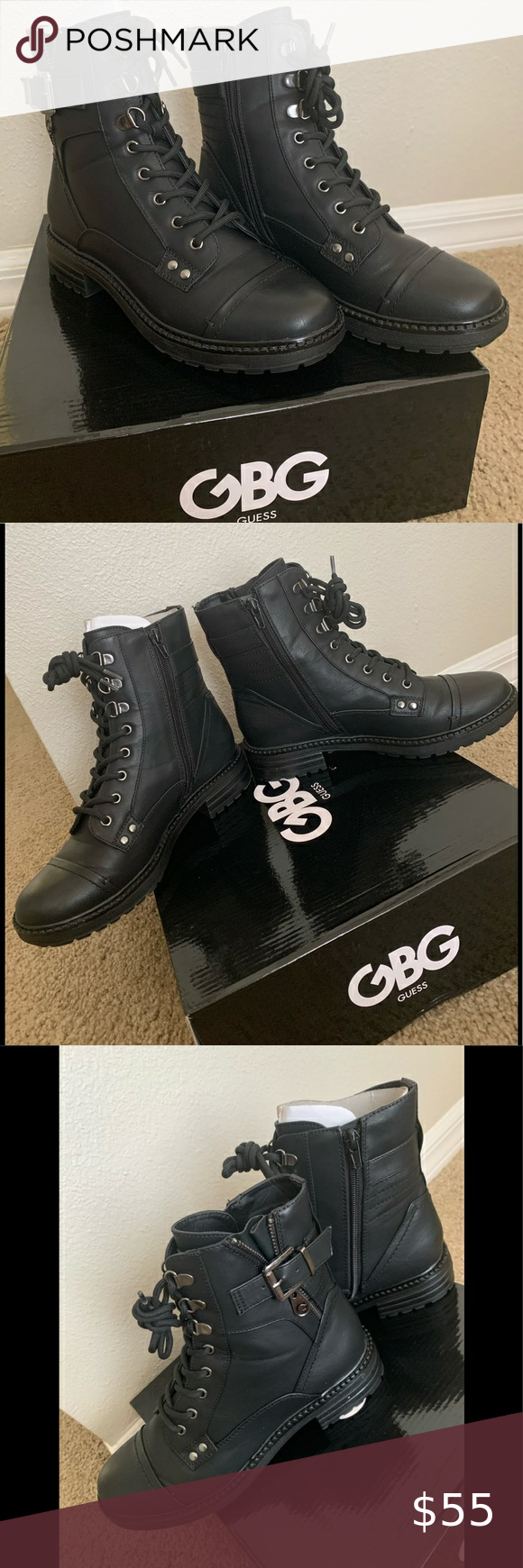 Photo of Guess GBG- Gessy Combat Boots 🥾 Size 7.5M Brand new only worn one time for a …