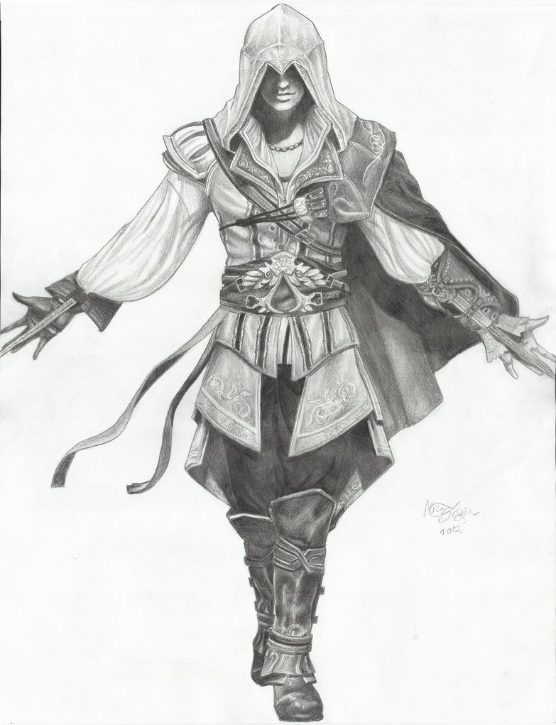 Assasins Creed Pencil Drawings Assassin S Creed Ii Ezio Auditore Da Firenze By Lice Chan Assassins Creed Art Assassins Creed Ii Assassins Creed Artwork