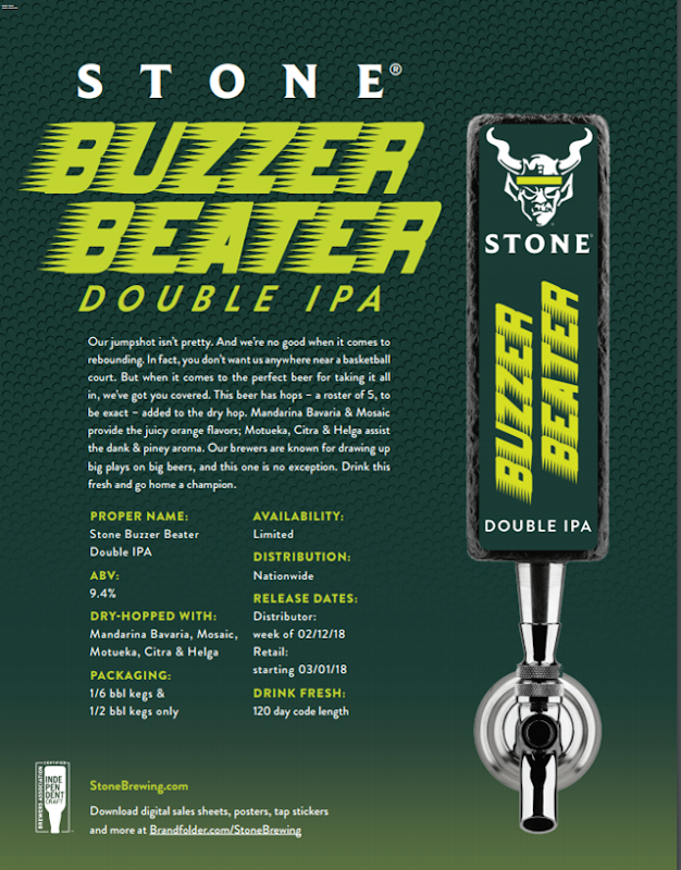 Stone IPA Madness Coming For March Madness 2018 (Buzzer