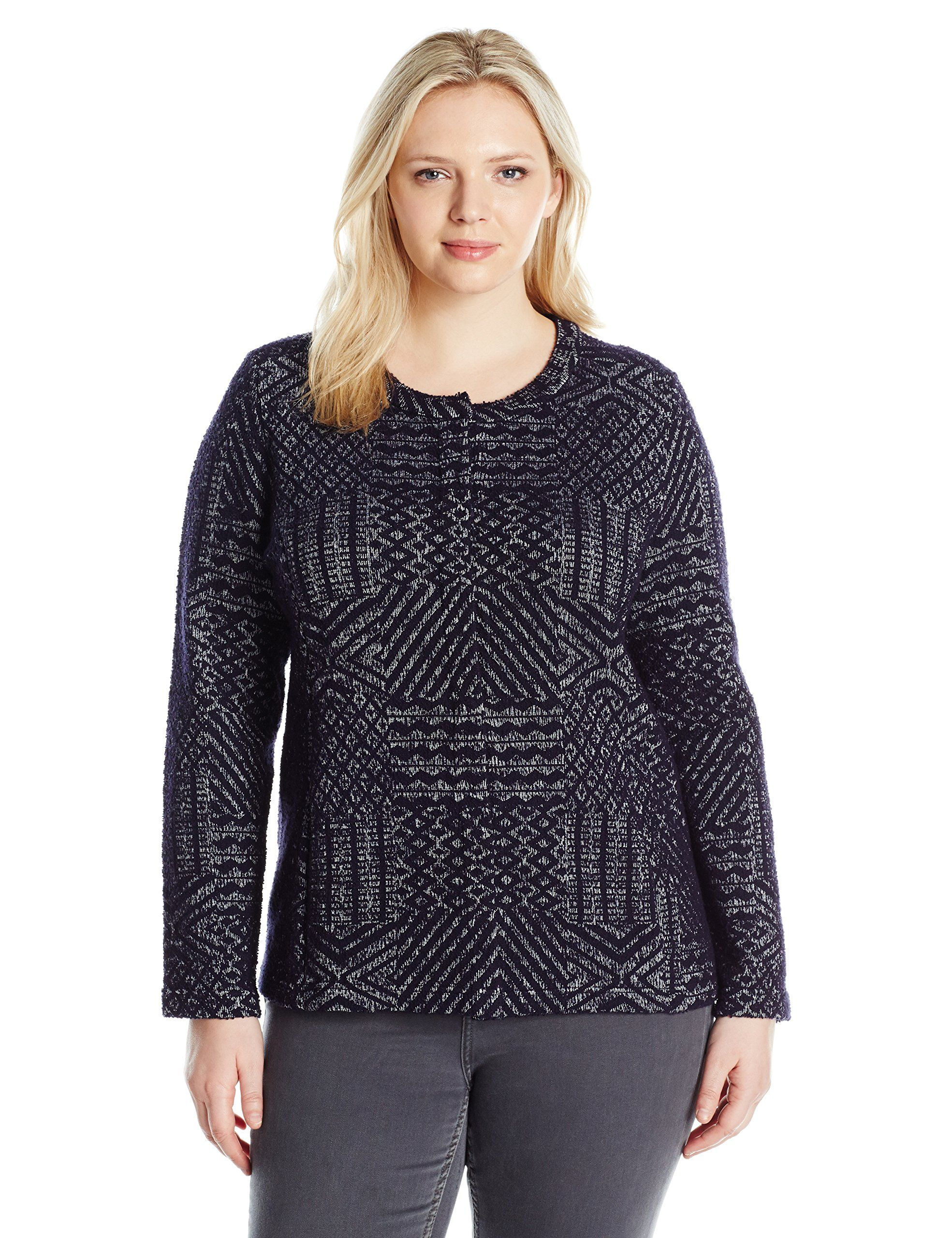 caebecea52 Lucky Brand Women s Plus Size Jacquard Sweater