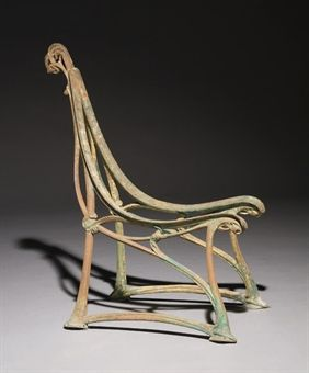 Cast Iron Garden Bench by Hector Guimard c1905