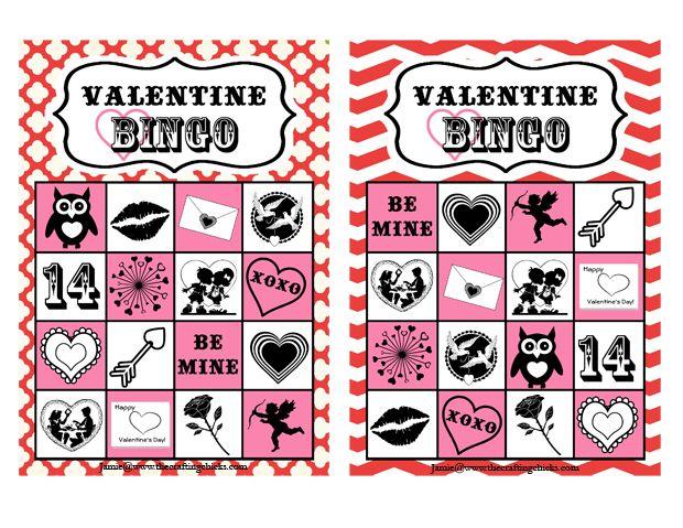 Valentine Bingo & Free Printable | Bingo, Ideas and Crafting
