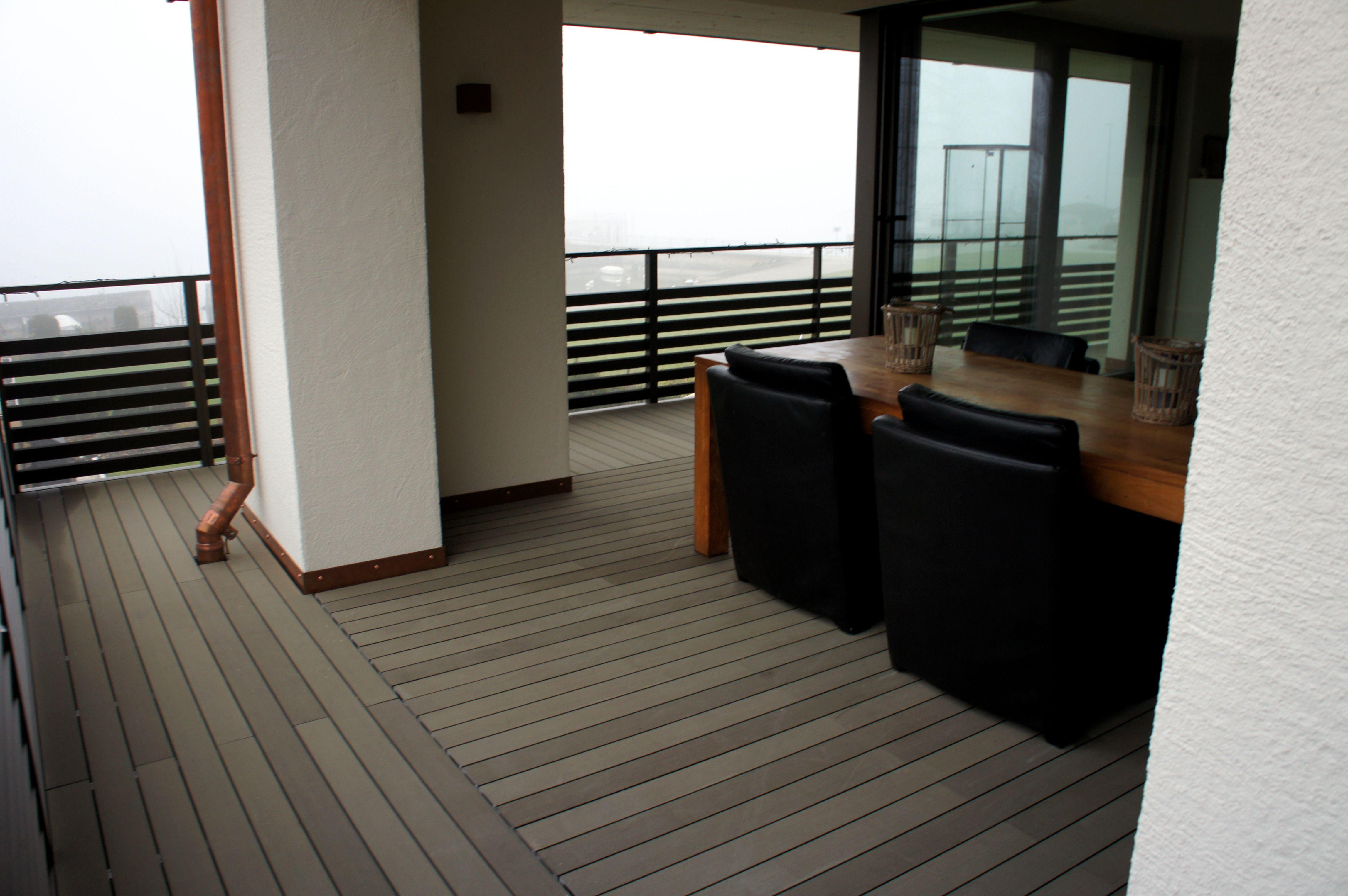Esthec terrace kunstof vlonder op balkon zeer duurzame oplossing