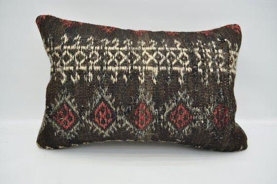 """kilim pillow 16""""x24"""" cushion cover bedroom pillow patterned decor pillow anatolian pillow cover ethn"""