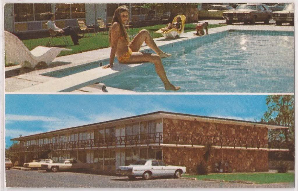 Mcallen Texas Postcard El Matador Motor Inn Swimming Pool Scene C1960s Unused Crow S Nest Postcards