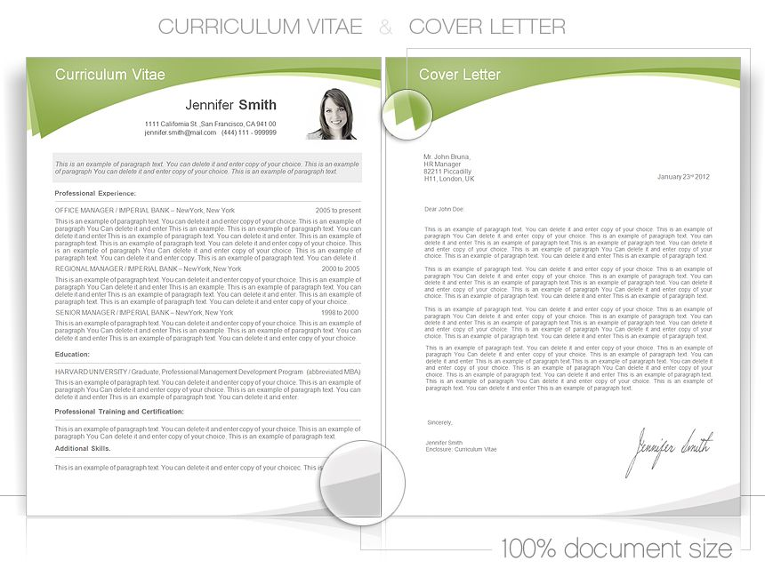 Free Curriculum Vitae Template Word CVspecial - Resume - microsoft word resume template