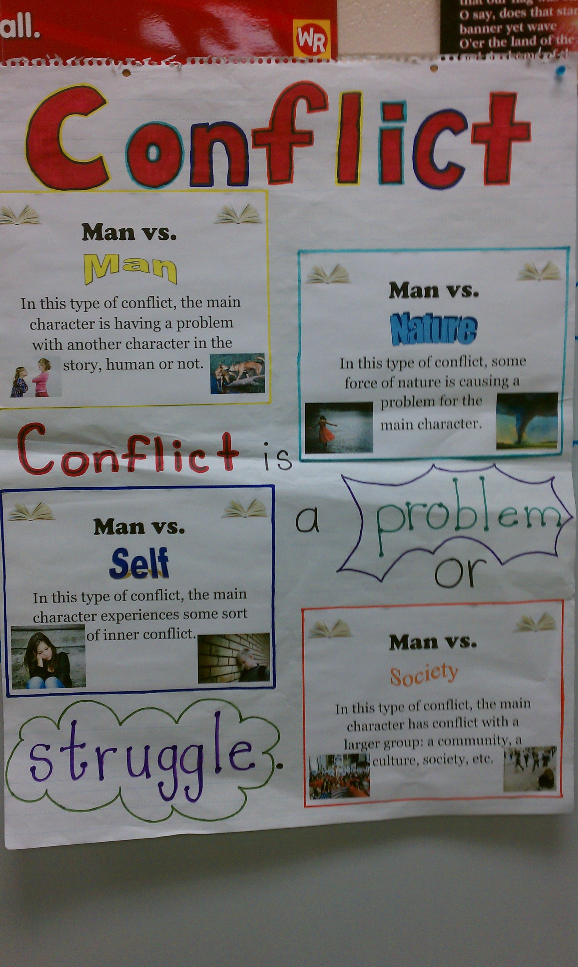 Story Conflict And Resolution Worksheet   Printable Worksheets and  Activities for Teachers [ 3264 x 1952 Pixel ]