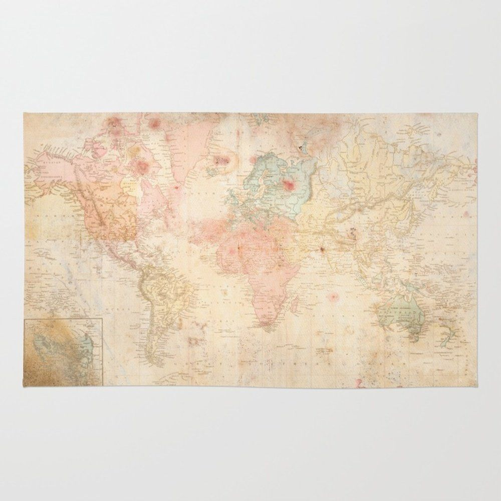 Amazon society6 another vintage world map rug 4 x 6 mj amazon society6 another vintage world map rug 4 x 6 gumiabroncs Choice Image