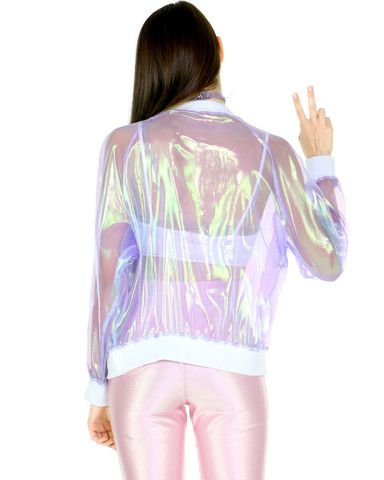 3810881af6 CLEAR HOLOGRAM JACKET  3 holo glam  3 shop the vday section at SHOPJEEN.com