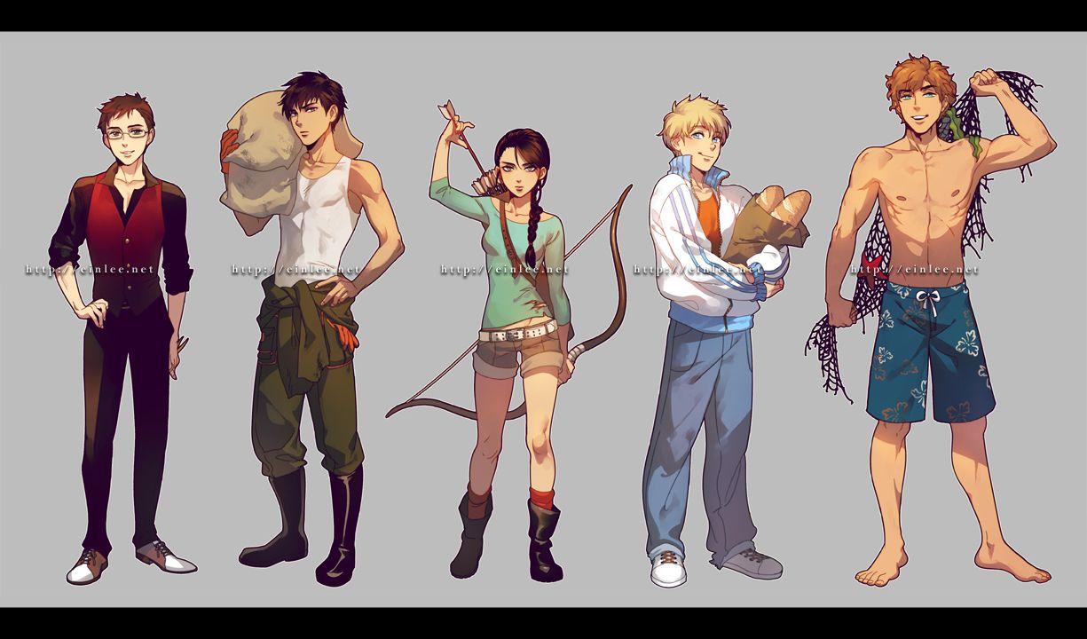 The Hunger Games: Art: Anime: Katniss Everdeen: Katniss: Hunger Games by einlee.deviantart.com on @deviantART