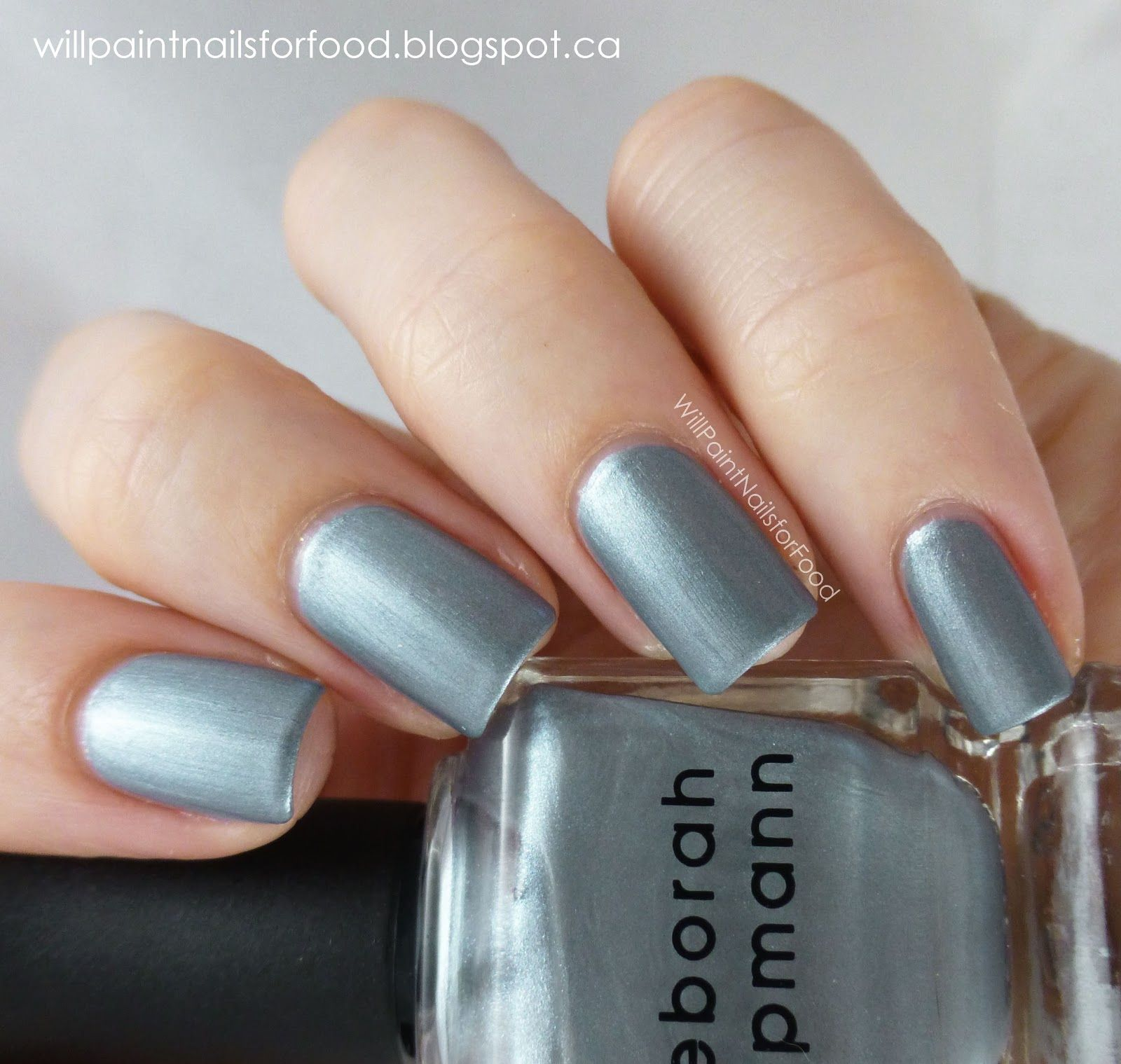 deborah lippmann moon rendezvous | Gray or Silver Nails | Pinterest ...