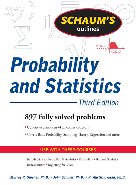 Download Schaums Outline Probability and Statistics 3rd