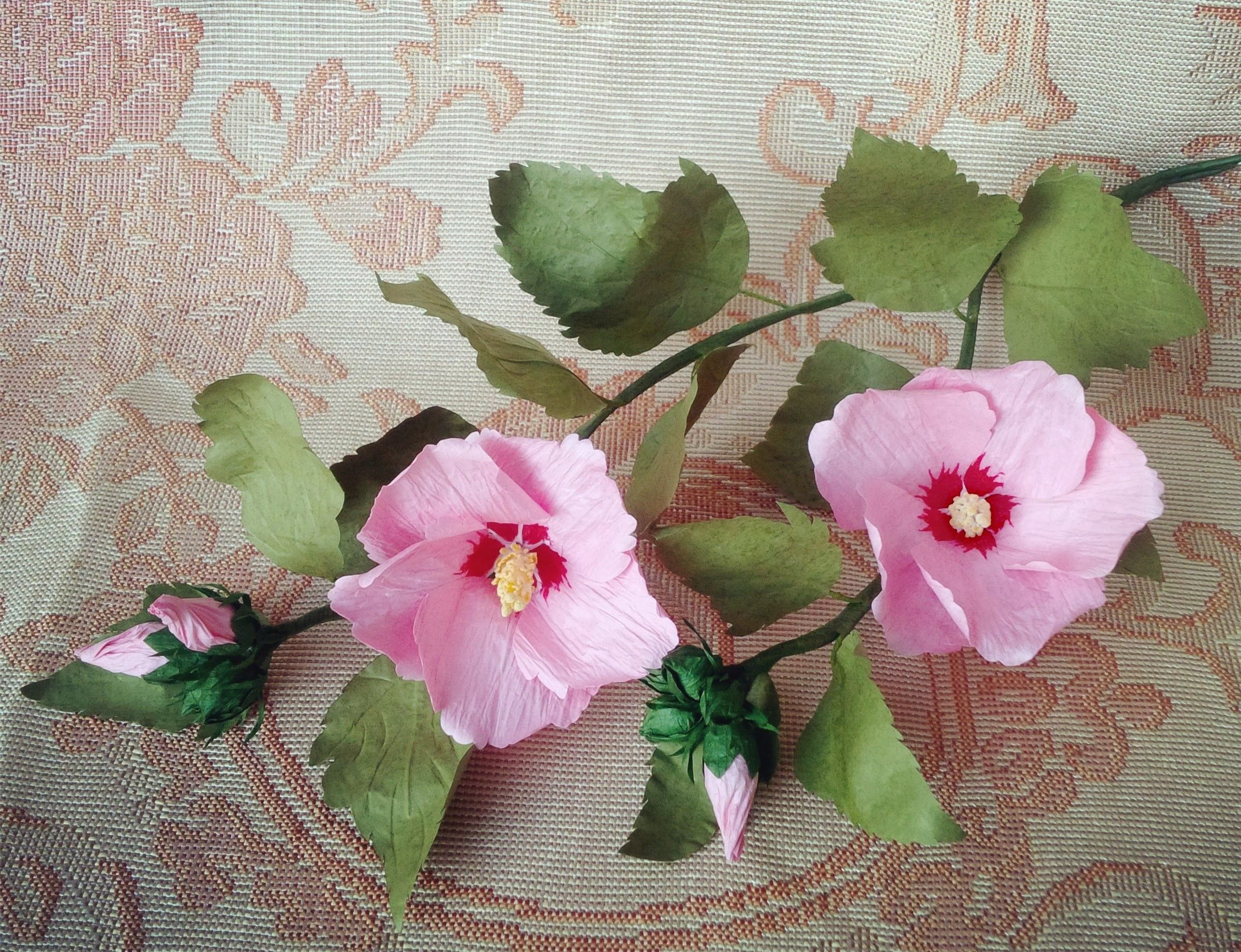 Rose Of Sharon Paper Roses Paper Flowers Roses Paper Flowers