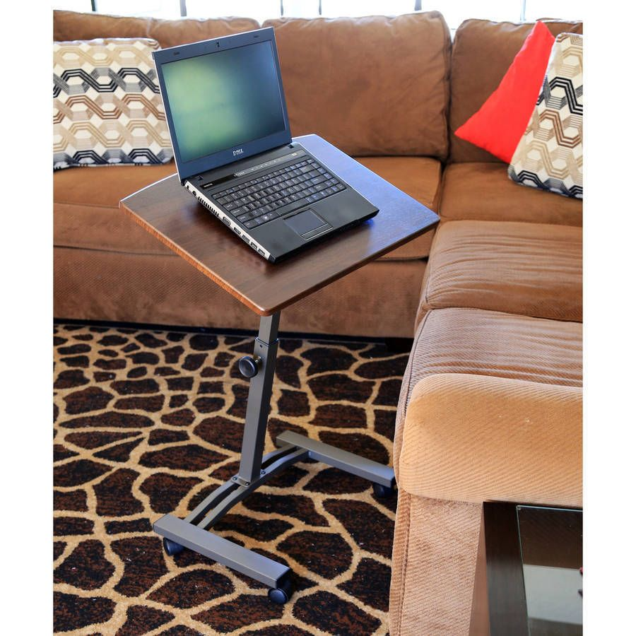 Ordinaire Mobile Laptop Desk Cart Table Movable Adjustable Height U0026 Angle Wheels  Notebook
