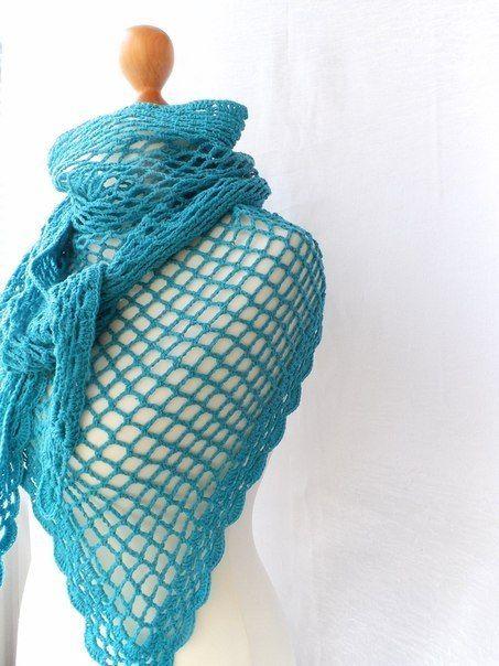 Delicadezas en crochet Gabriela: Chal bien calado