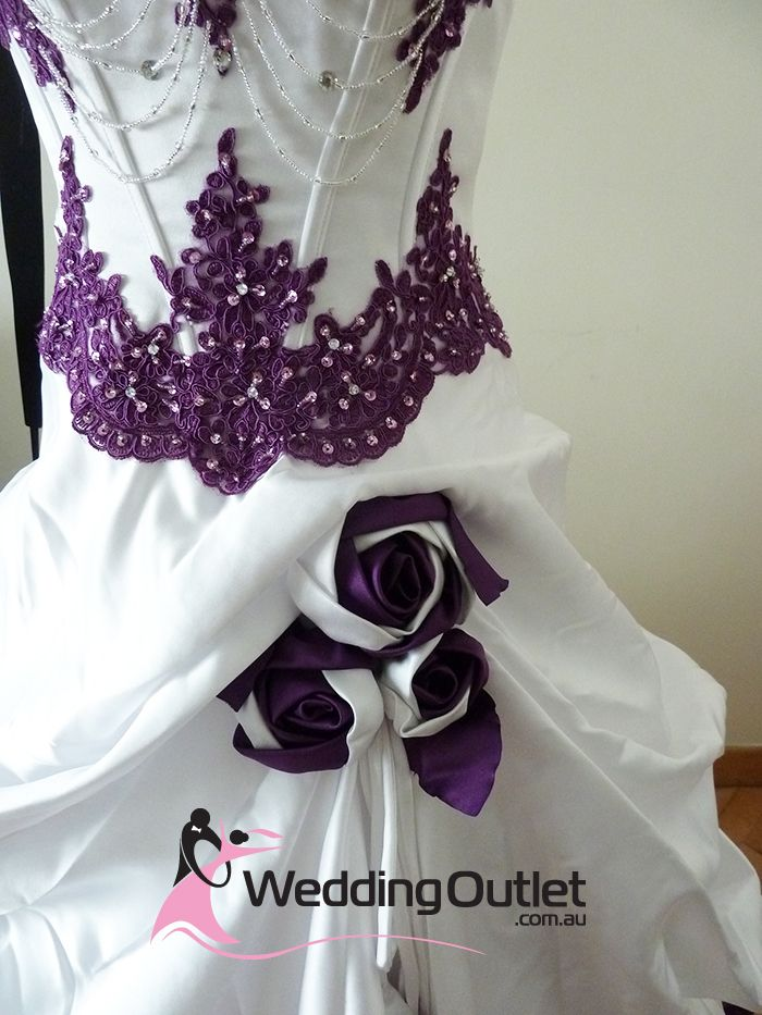 Dress Purple Wedding Gowns | Scarlett Purple and White Wedding Dress ...
