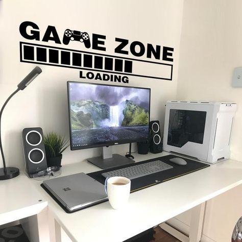 Gamer Wall Sticker, Game Zone, Loading, Gamer, Wall Stickers, Wall Decals, Gamer Decals, Gaming Room, Gift, Gamer Wall Decal, Gamer Decor
