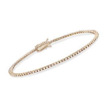 1 00 Ct T W Diamond Tennis Bracelet In 14kt Yellow Gold 7 836413 Ross Simons Com Tennis Bracelet Diamond Rose Gold Diamond Bracelet Tennis Bracelet