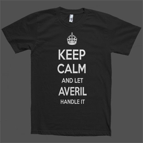 Keep Calm and let Averil Handle it Personalized Name T-Shirt
