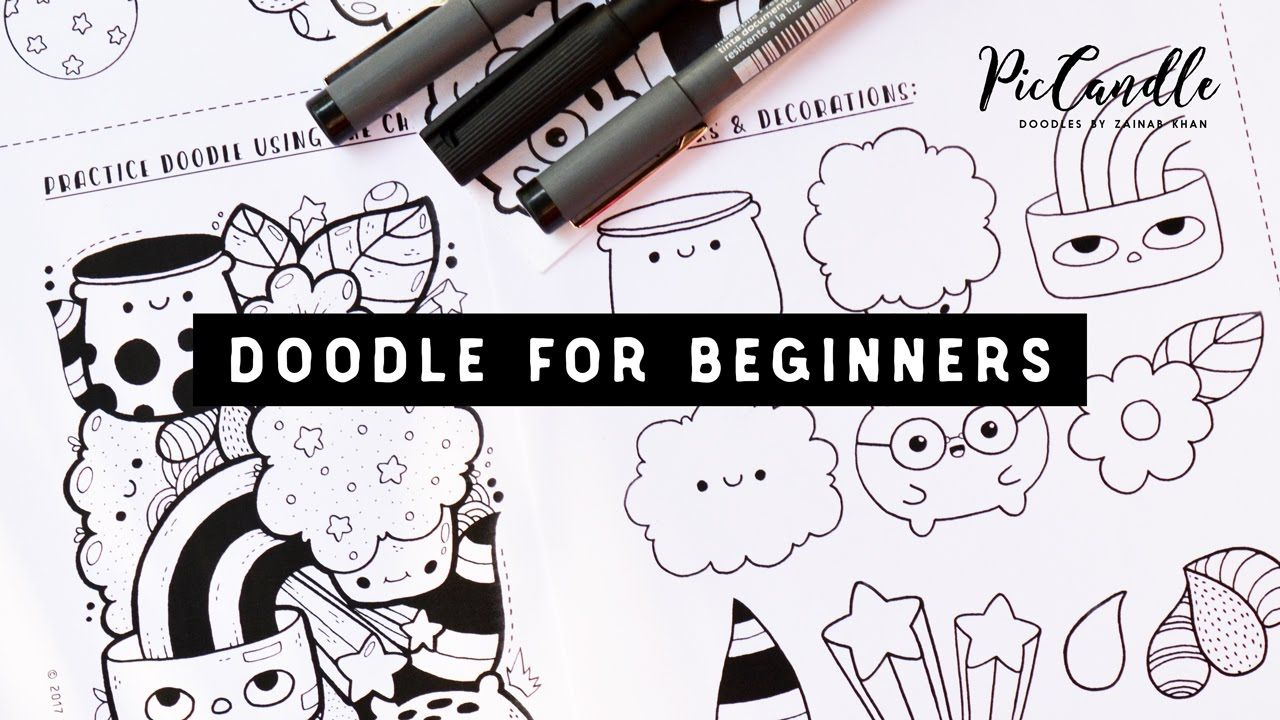 Doodle For Beginners Draw With Me Step By Step Youtube With