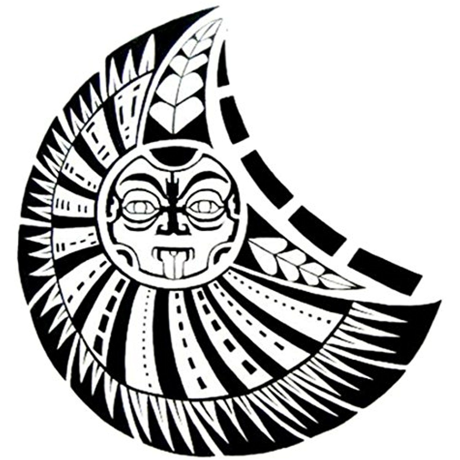 Hp95 Tm 1pcs Fashion Body Art Stickers Removable Waterproof Temporary Tattoo Chest Apollo Temporary Maori Tattoo Polynesian Tattoo Polynesian Tattoo Designs