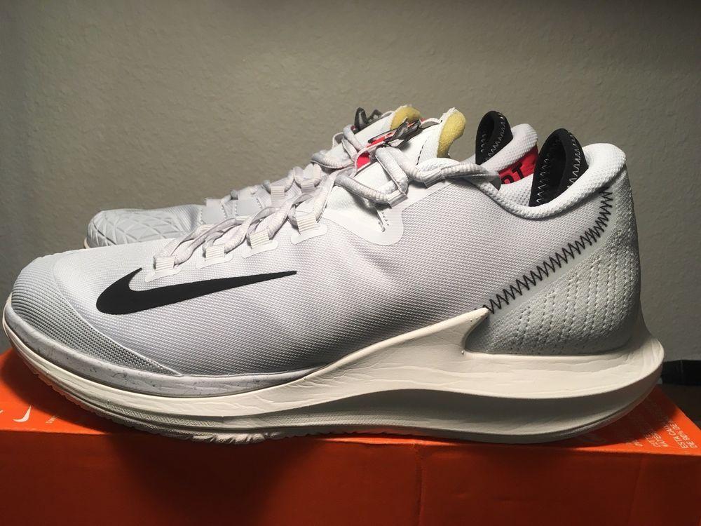 d6109c50f9cac NIKE COURT Air Zoom Zero QS Tennis Shoes Pure Platinum  Black-Phantom Men Sz