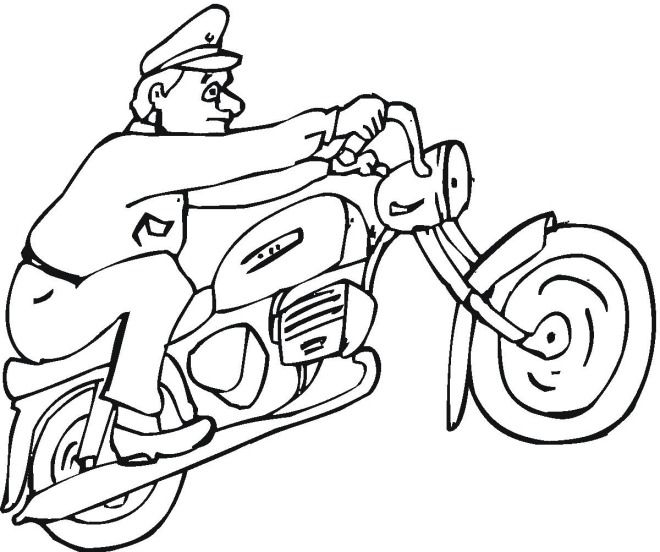 Motorcycle Coloring Pages Motorcycle 4 Coloring Page Coloring