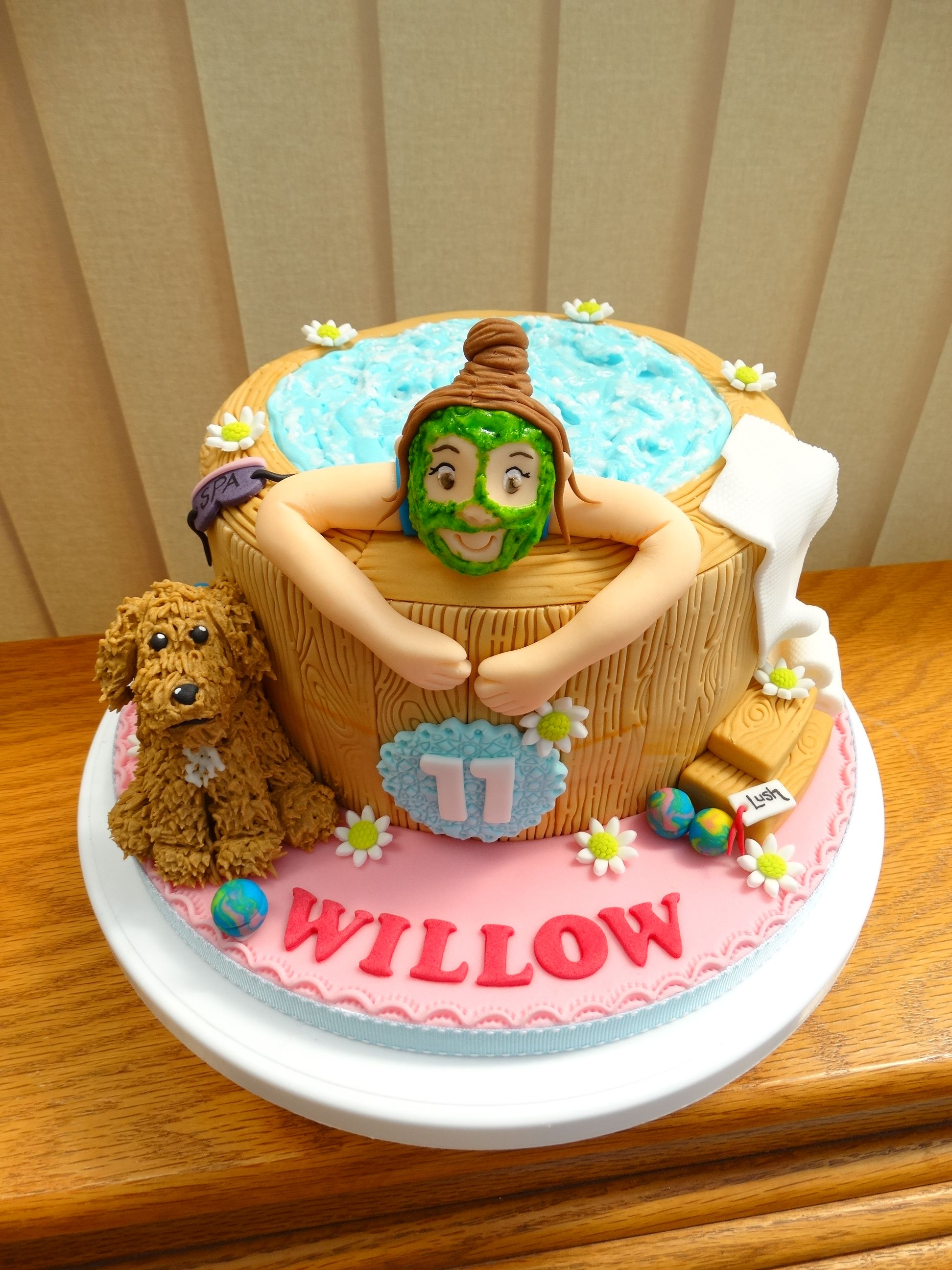 Spa Hot Tub Cake Xmcx Birthday Cake Kids 50th Cake