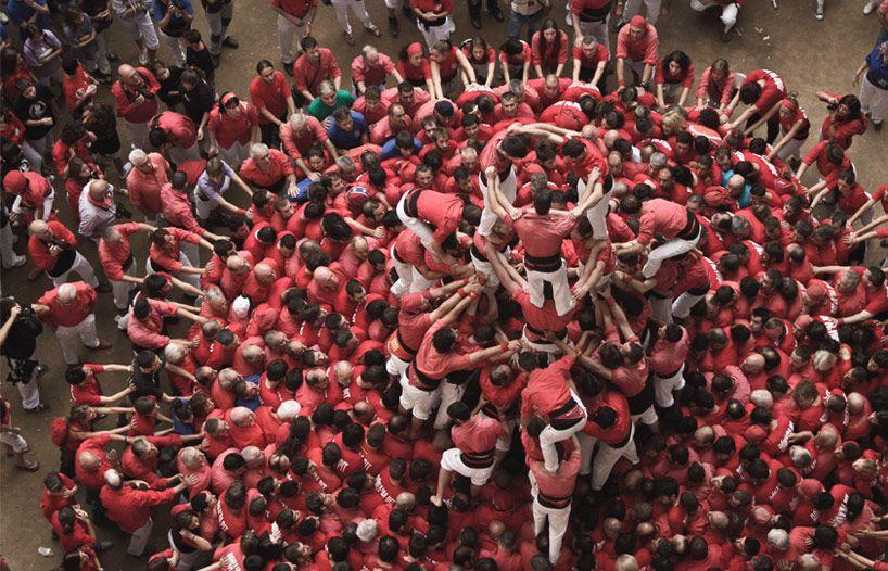 david oliete: human tower competition in tarragona, spain