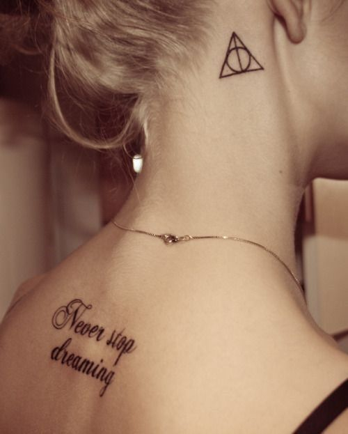 Harry Potter Tattoo For Women Behind Ear Neck Tattoo Best Neck Tattoos Neck Tattoo For Boys