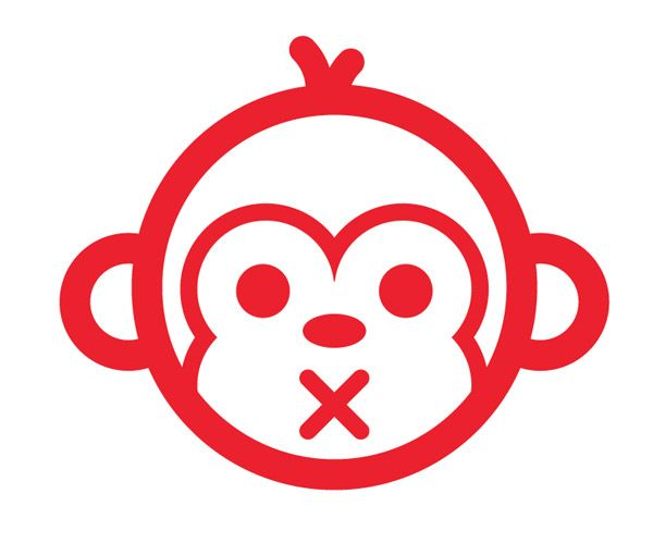 Line Art Logo Tutorial : How to create a monkey face with vector line work