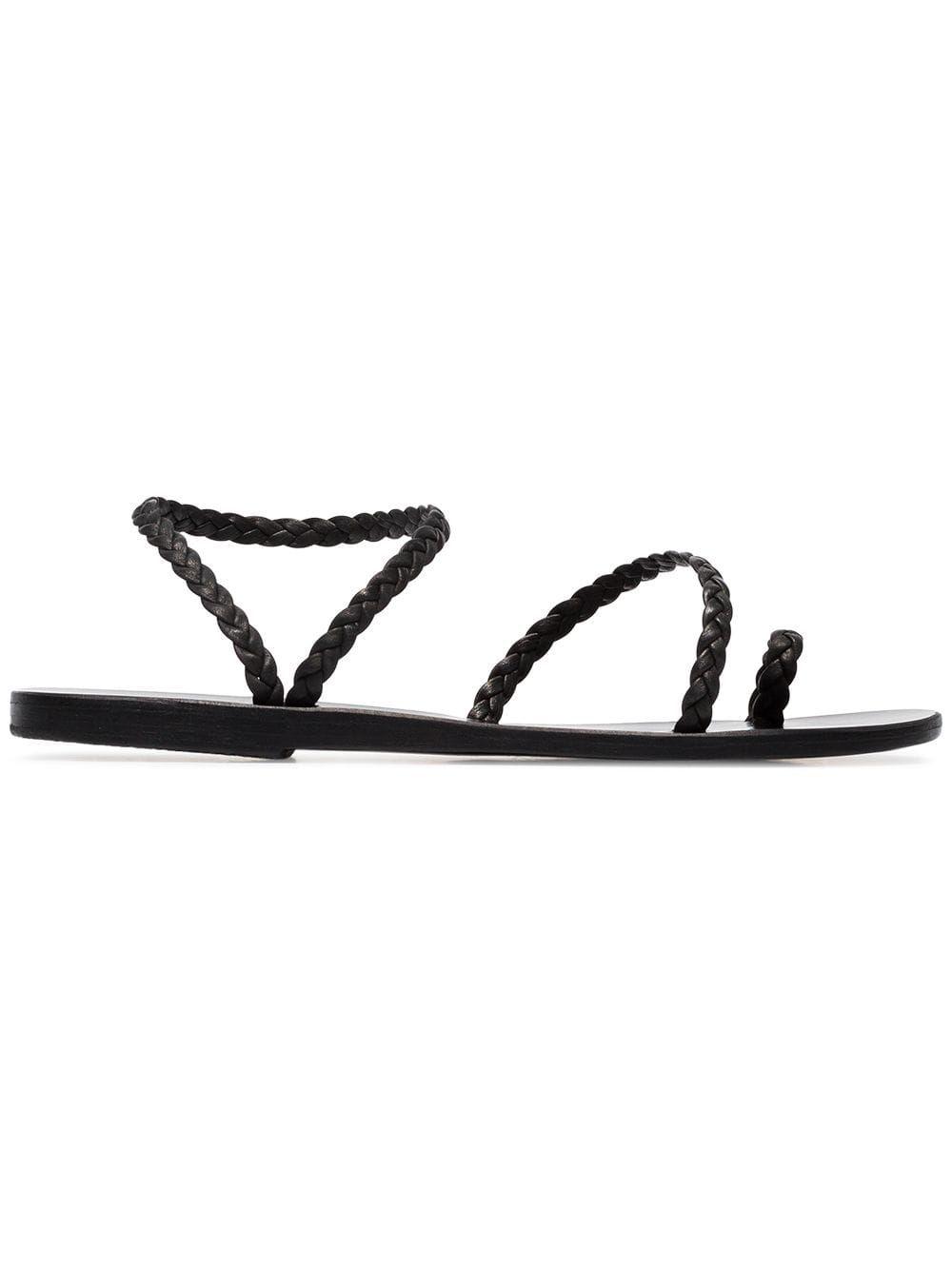 caf939c94abd Ancient Greek Sandals black elefteria braided leather sandals ...