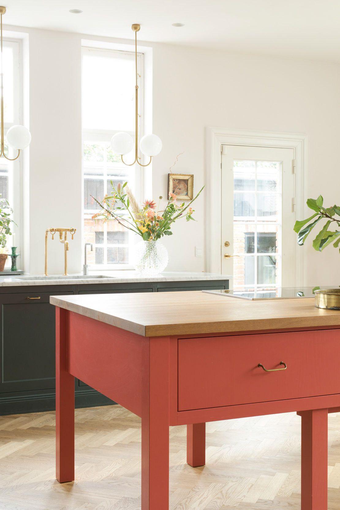 Classic Engish Kitchen Design in a Grand Copenhagen Remodel by Kvanum