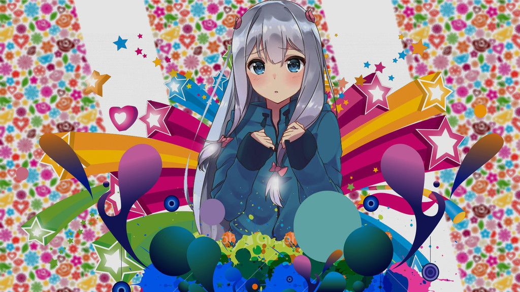 Pin On Anime Cute colorful anime wallpapers