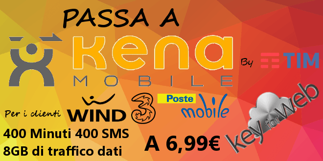 Passa a Kena Mobile con Kena Free: 400 minuti, SMS e 8GB a 6,99€  #follower #daynews - https://www.keyforweb.it/passa-a-kena-mobile-con-kena-free-400-minuti-sms-e-8gb-a-699e/