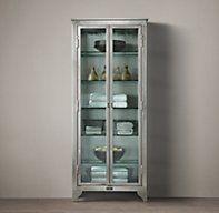 1930s Laboratory Stainless Steel Storage Cabinet Medium