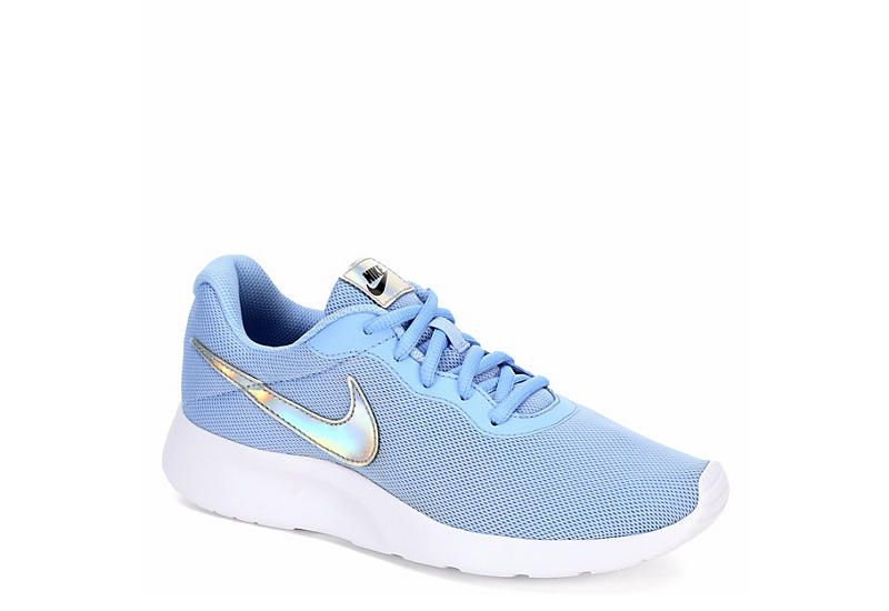 Pale Blue Nike Womens Tanjun Metallic