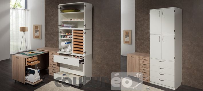 Idees Rangement Pour Petit Atelier Couture Tall Cabinet Storage Storage Home