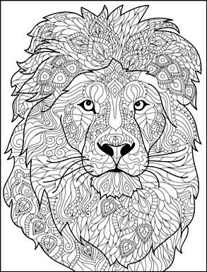 Pin By Michele Madsen Belden On Coloring Pinterest Coloring - Lion-mandala-coloring-pages