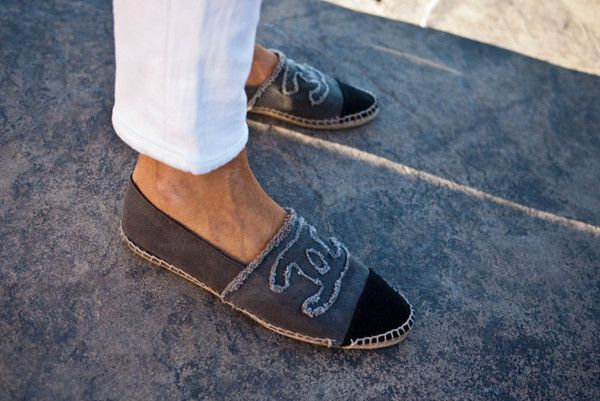 b11a200d84 Found on Wheretoget.it | Street Style | Chanel espadrilles, Chanel ...