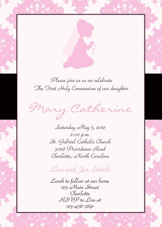 1000 images about Communion ideas – Invitation Cards for First Holy Communion