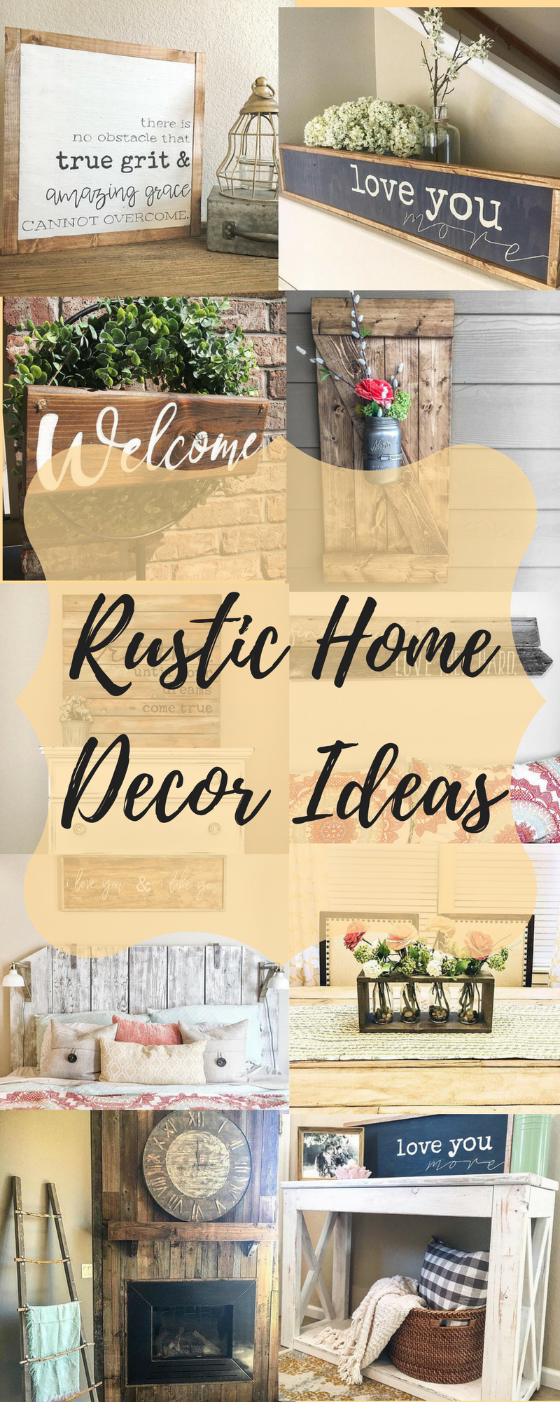 Rustic Home Decor Ideas, farmhouse decorations, ranch style ...