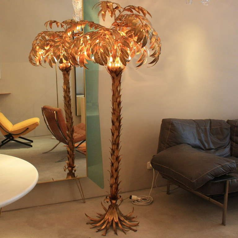 1stdibs Large Metal Palm Tree Lamp France 1970 S