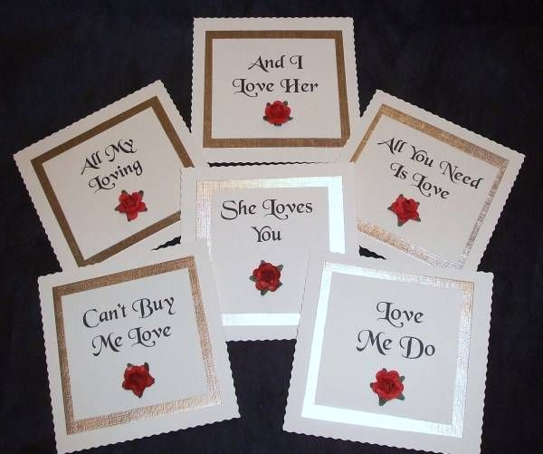 Ideas For Wedding Table Names: Google Search....Love Related
